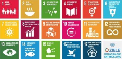 17 SDGs mit Rand