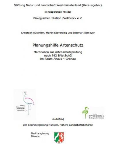 Deckblatt_Planungshilfe Artenschutz